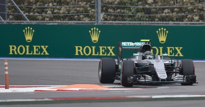 Nico Rosberg, durante la prueba de clasificaci�n, en el circuito de Sochi.