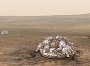 Recreaci�n del 'Schiaparelli' en la superficie de Marte, en caso de un aterrizaje suave.