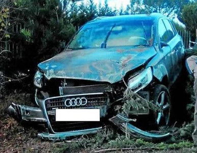 Otro Audi que acab mal con Benzema, en noviembre del 2009.