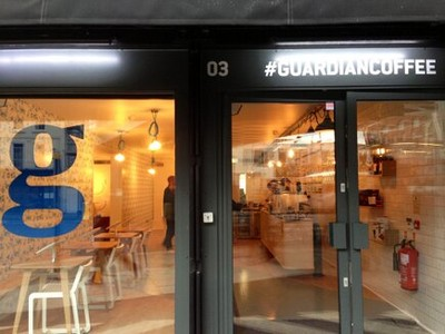 Imagen del bar #guardiancoffee que ha abierto el diario 'The Guardian'.