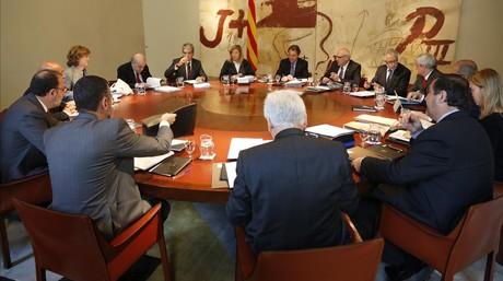 Reuni�n del Consell Executiu, el pasado martes, en el Palau de la Generalitat.