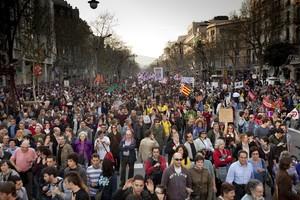 La manifestación de la huelga general del pasado 29 de marzo del 2012