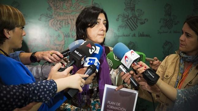 La diputada porivncial de Esquerra Unida Rosa Pérez Garijo, que denunció el caso Imelsa, en una imagen de archivo.