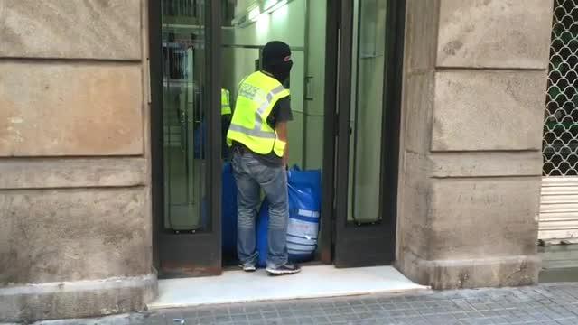 Operaci� contra el 'top manta' a Barcelona