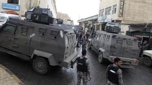 Despliegue policial en Karak