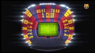 'More than a club', el mosaic triat pel Barça per rebre la Juve