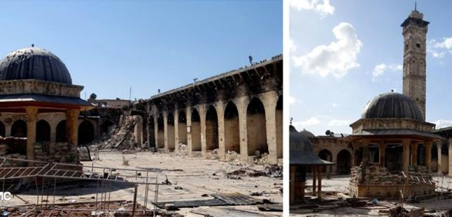 Destruido el minarete de la Gran Mezquita de Alepo