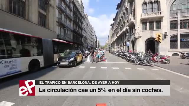 Barcelona viu un Dia sense Cotxes amb el 6,1% menys de trànsit