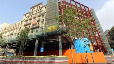 Las obras han comenzado en el edificio del Hotel Gaqn Via.