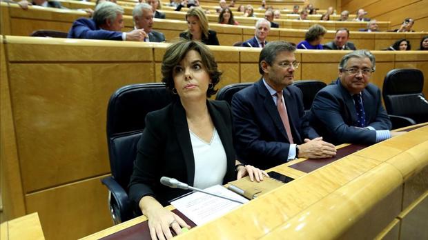"""Santamaría quiere que Catalunya deje de estar al """"dictado exclusivo"""" de los independentistas"""