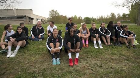 Las jugadoras del Uni Girona.