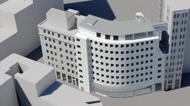 Maqueta del nuevo hotel de Milán que gestionará catalonia Hotels.