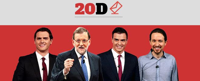 Mariano Rajoy, Pedro S�nchez, Albert Rivera y Pablo Iglesias