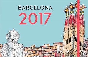 Portada de la agenda Barcelona 2017, de la Editorial Mediterrània