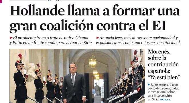 El gruix del quiosc no veu gens clara la guerra d'Hollande