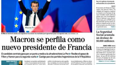 La victòria de Macron sobre Le Pen alleuja la premsa