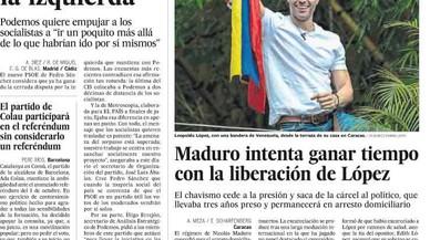 La premsa de Madrid enalteix el dirigent antichavista Leopoldo López, excarcerat per Maduro