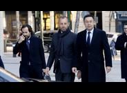 Rosell y Bartomeu, a su llegada a la Audiencia Nacional en Madrid para declarar por el 'caso Neymar'.