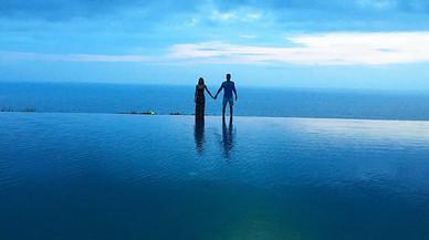 Marc Bartra i la seva dona, de lluna de mel a Bali