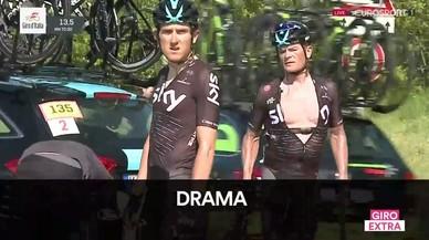 Les imatges de la forta caiguda al Giro per culpa d'un policia