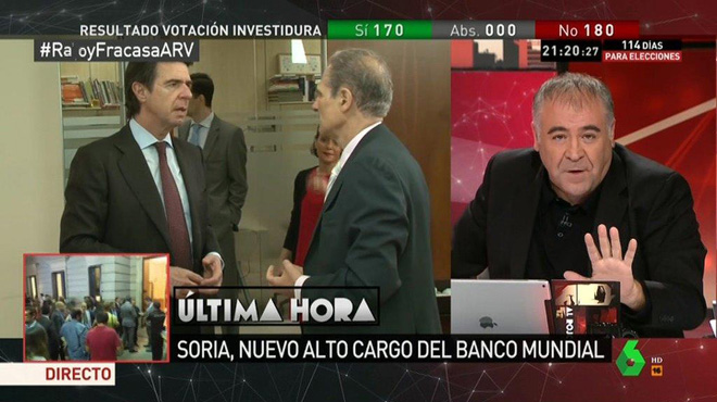 Premi a Soria, 'el caradura'