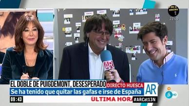 El doble de Puigdemont se cuela en los matinales de las televisiones españolas