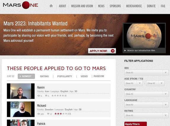 Se buscan viajeros a Marte dispuestos a no regresar