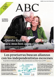 Portada de 'Abc'. 18-10-2012.