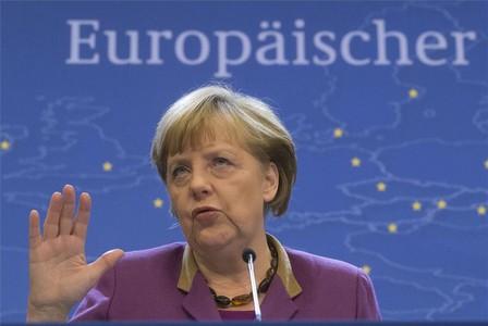 La cancellera alemanya Angela Merkel, protagonista de la cimera de Brussel·les.