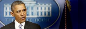 Obama durante la rueda de prensa. AFP