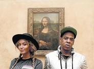 Beyonc� i Jay-Z, davant de 'La Gioconda'.