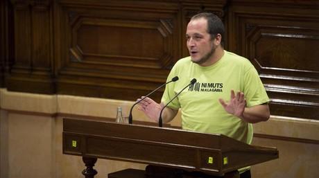 El diputado de la CUP David Fern�ndez, el pasado 2 de octubre en el Parlament.