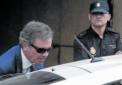 Jordi Pujol Ferrusola, tras declarar como imputado ante el juez Ruz el pasado 15 de septiembre.