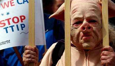 Una foto tomada en la protesta realizada en M�nich.