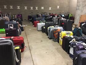Acumulación de maletas en el aeropuerto de El Prat