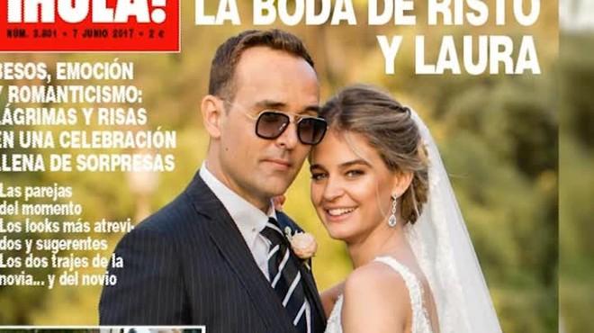 Las primera fotos de la boda de Laura y Risto, en Hola