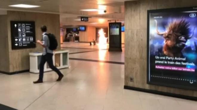Abatut un terrorista que ha detonat un explosiu a lEstació Central de Brussel·les