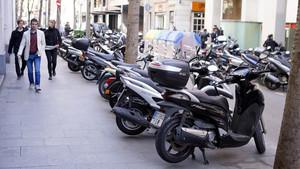 Motos en Barcelona.