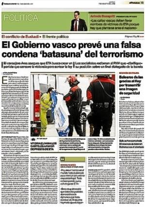 39 gara 39 anuncia el giro en batasuna contra el que ya - Departamento de interior del gobierno vasco ...