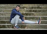 El atleta espa�ol de origen marroqui Adel Mechaal, en Montjuic.
