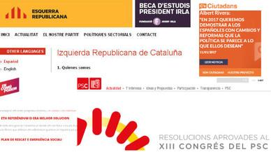 Les webs dels partits també suspenen en idiomes