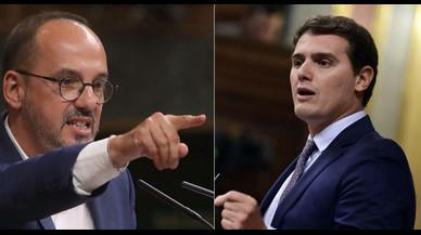 """Campuzano (PDECat) titlla de """"falangista"""" el discurs d'Albert Rivera al Congrés"""