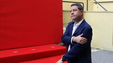 Emiliano Garc�a-Page, en el comit� federal del PSOE de mayo del 2015.