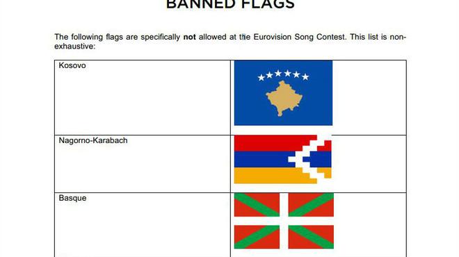 Eurovisió compara la 'ikurriña' amb la bandera de l'Estat Islàmic
