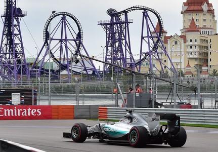 Lewis Hamilton, durante el Gran Premio de Rusia.