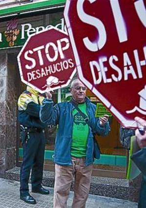 Protesta ciudadana contra un desahucio