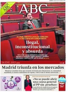 Ilegal, inconstitucional y absurda, titula Abc