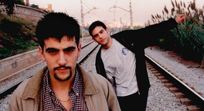 La primera actuación de Estopa con un micro, en 1998 en el Concurs de Cantautors de Horta-Guinardó.