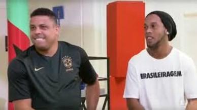 Ronaldo y Ronaldinho, en la entrevista en Globo TV.