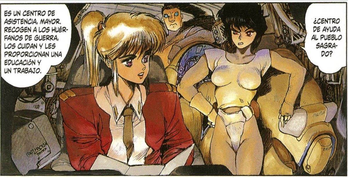 Autocensura de sexe lèsbic del manga 'Ghost in the shell'